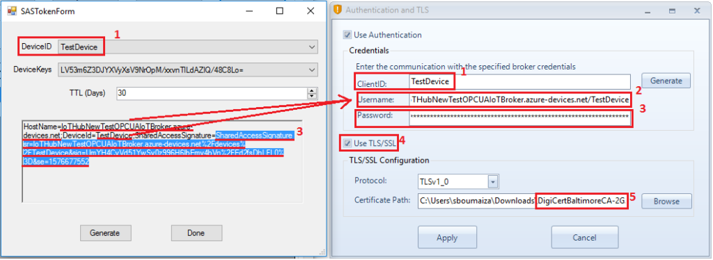 Authentication and TLS configuration