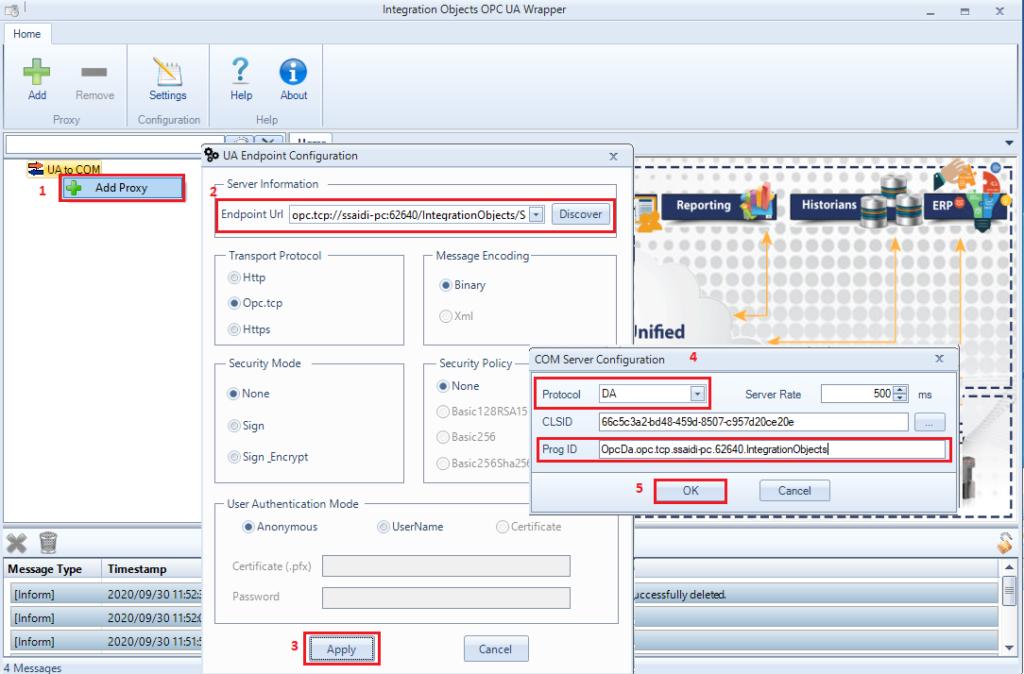add new proxy - Integration Objects