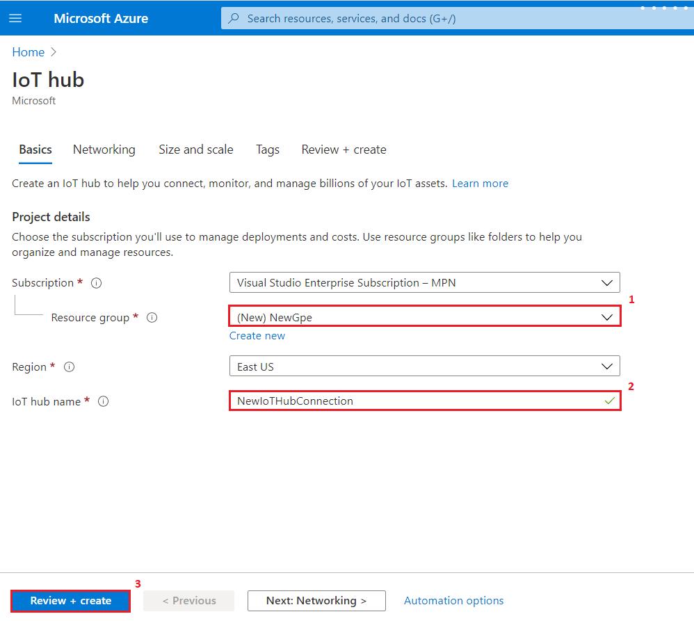 Azure IoT Hub creation | Integration Objects