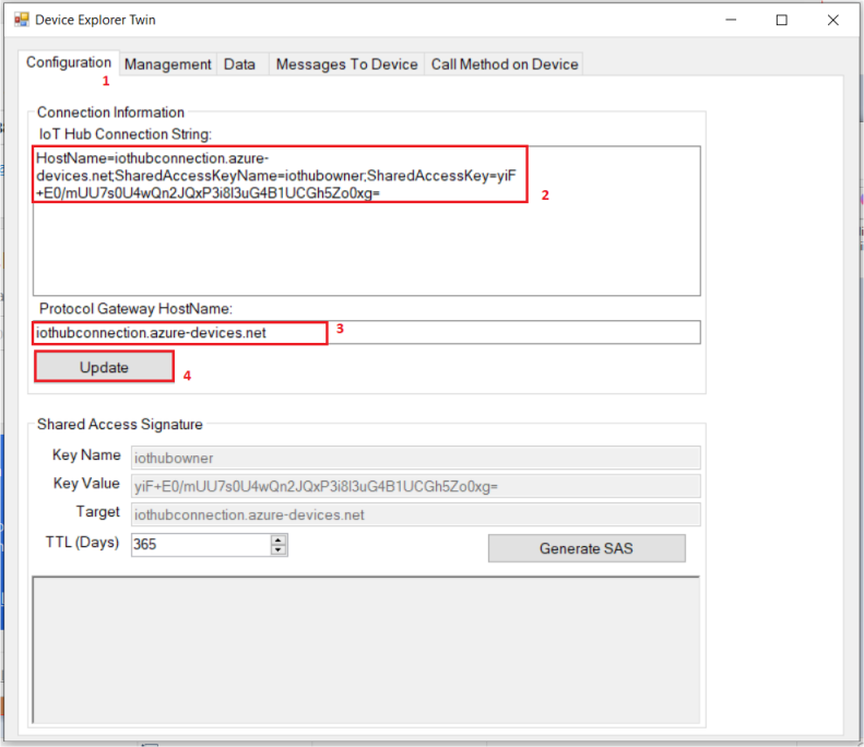 Configuring IoT HuB Connection in Device Explorer | Integration Objects