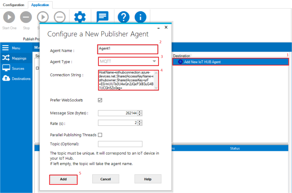 IoT HUB Agent Creation | Integration Objects