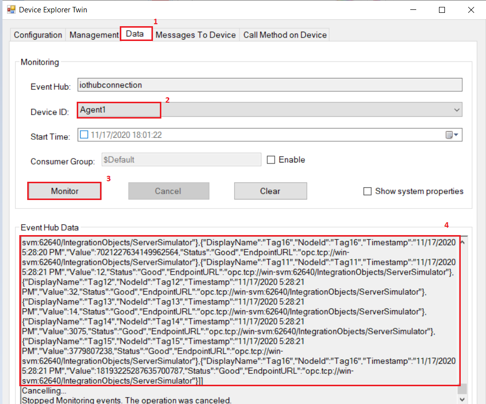 Monitor Data flow | Integration Objects